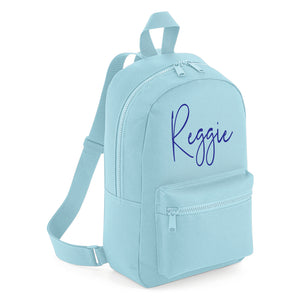 Signature Mini Backpack - Light Blue