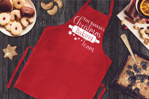 Christmas Baking Team Apron - Personalised