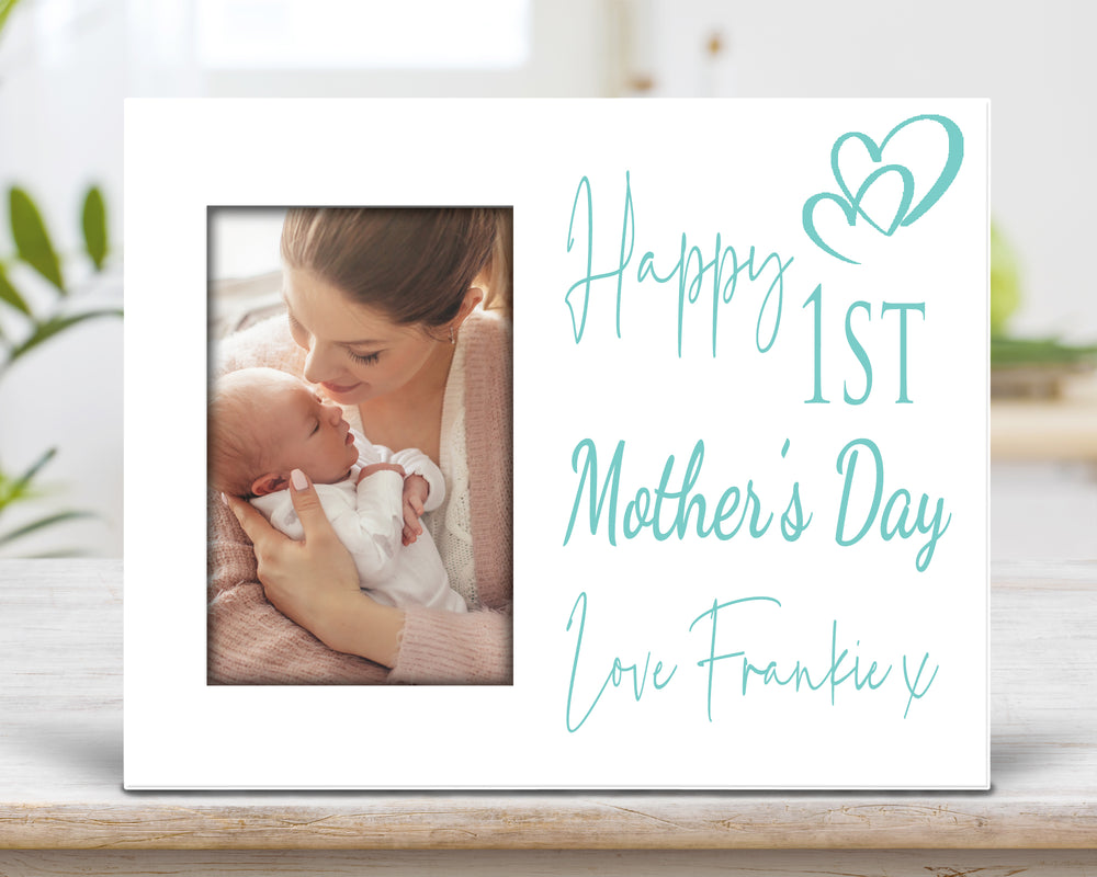 Blue 1st Mother's Day Personalised Photo frame