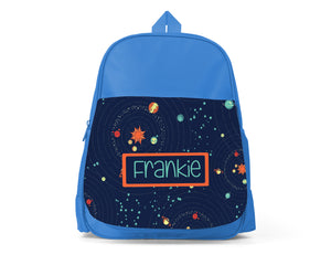 Blue Personalised Back Pack - Space