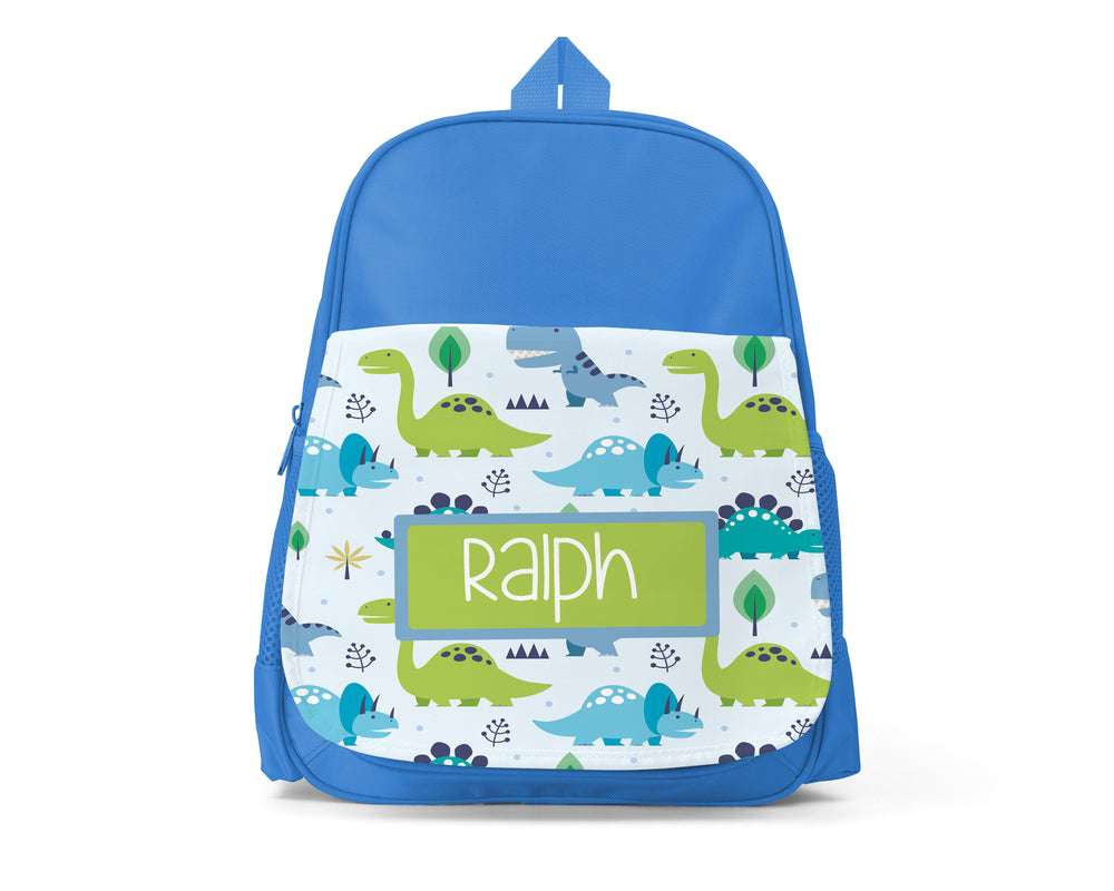 Blue Personalised Back Pack - Dino