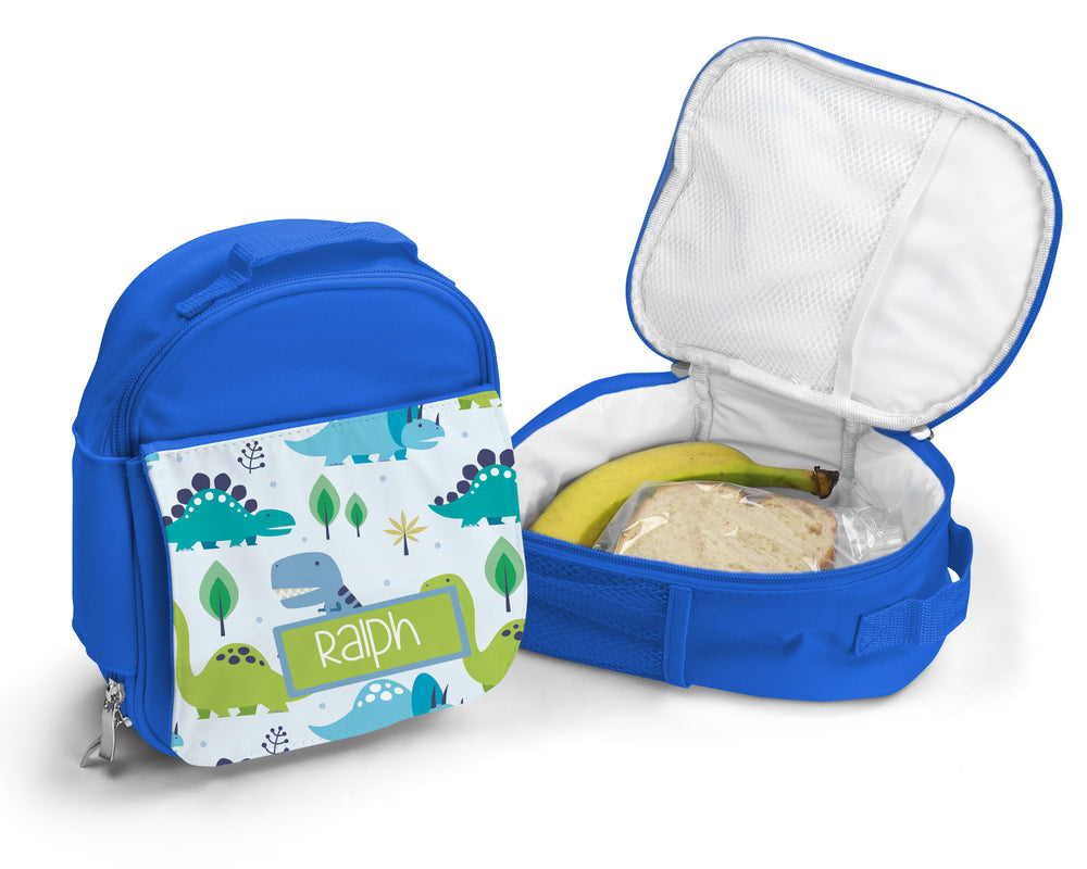 Blue  Personalised Lunch Bag - Dino
