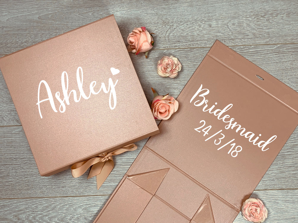 Rose Gold Wedding Gift Box - Medium