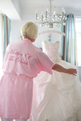 Silky Light Pink Wedding Robe