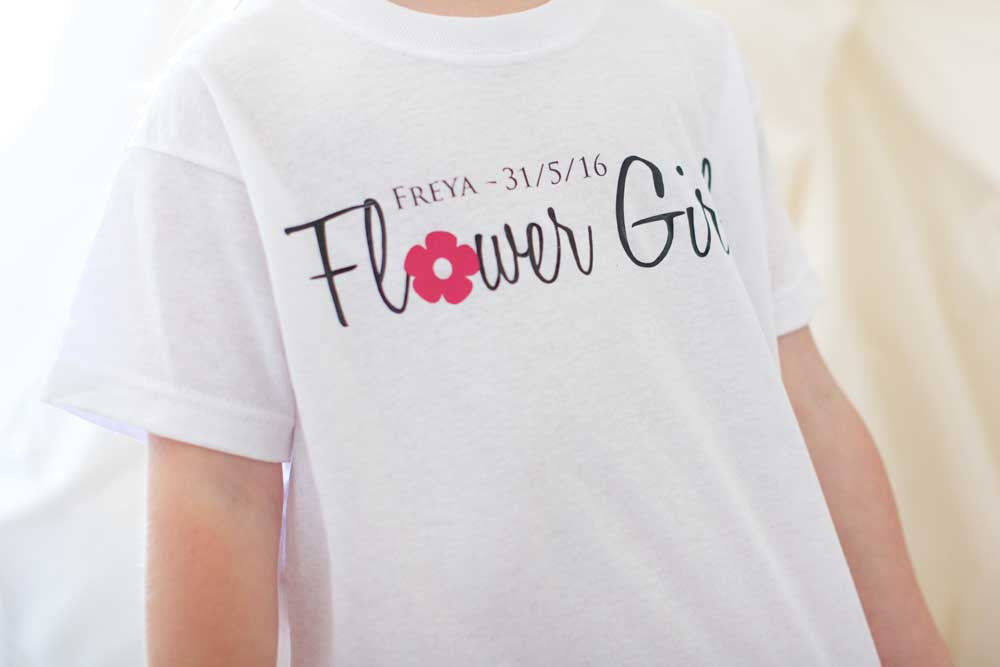 Flower Girl T-shirt - Personalised