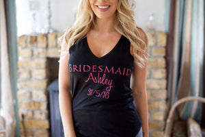 Black flowy vest top- Brides, Bridesmaid etc