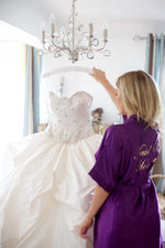 Silky Purple Wedding Robe