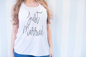 Just Married Loose Vest