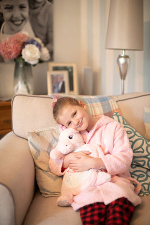 Snuggle Me Personalised Unicorn Hot Water Bottle