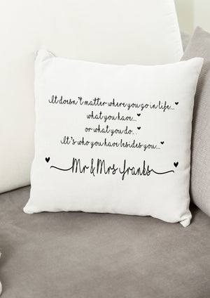 Wedding Poem Cushion