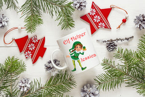 Personalised Elf Christmas Mug