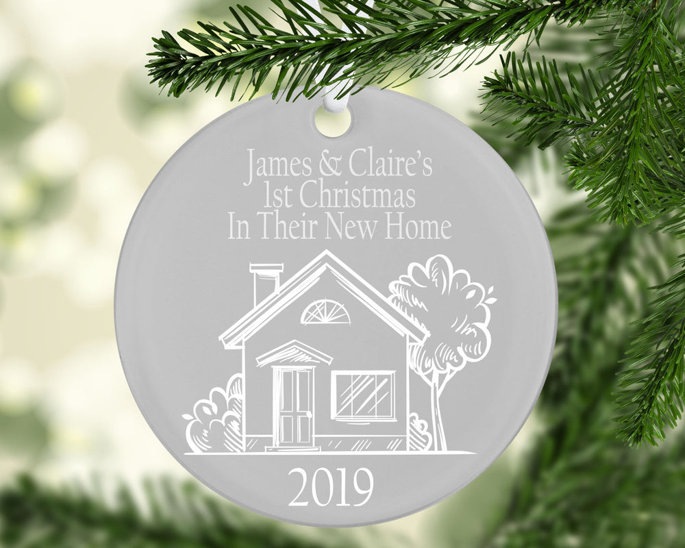 Personalised New Home Ceramic Bauble