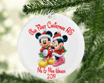 Our First Walt Christmas Married Ceramic Bauble