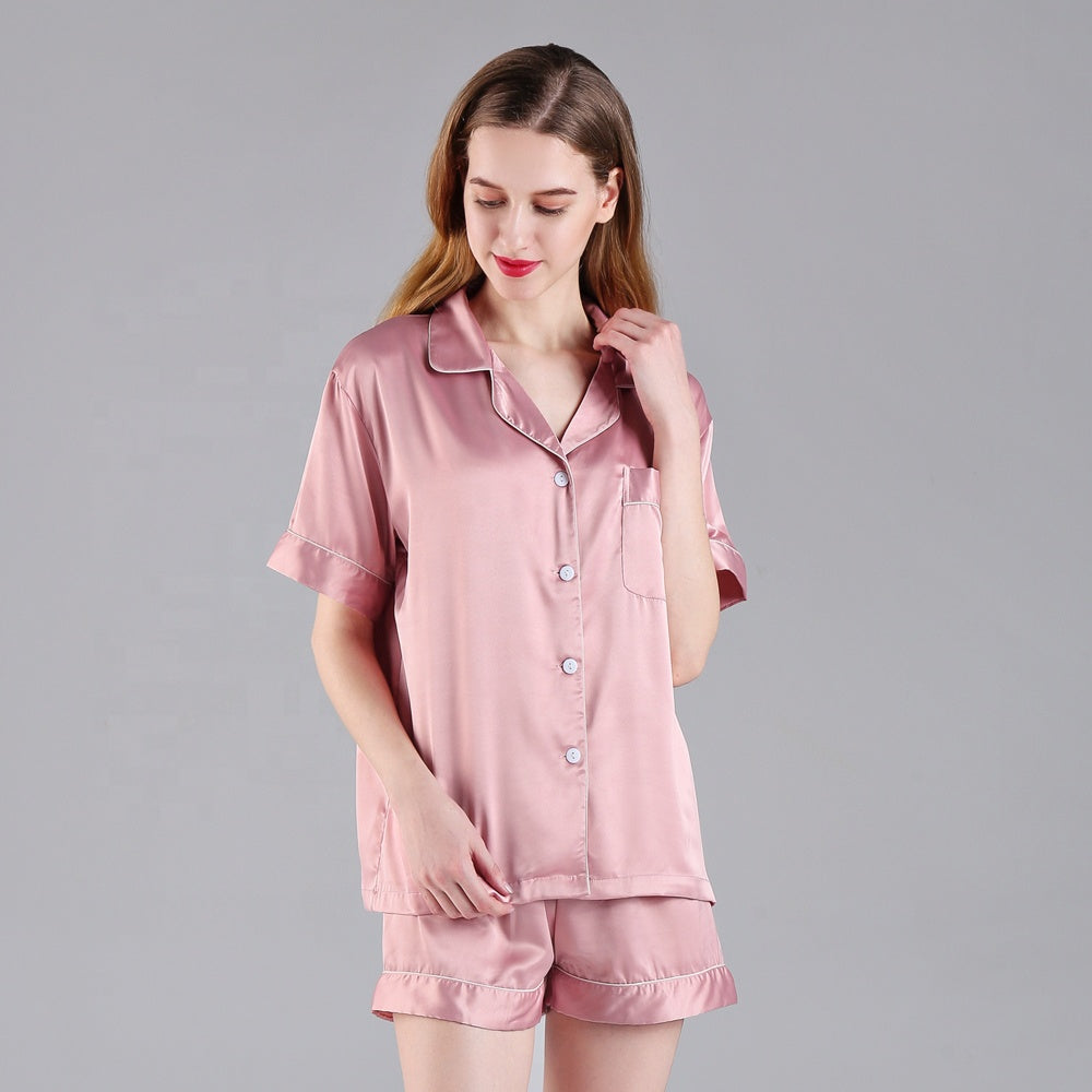 Sophia Heart FRONT Piped Pyjama Set