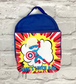 Child's Blue Personalised Lunch Bag