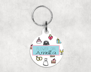 Girl's Icon Personalised Key Ring