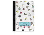 Girl's Icon Personalised Important Notebook