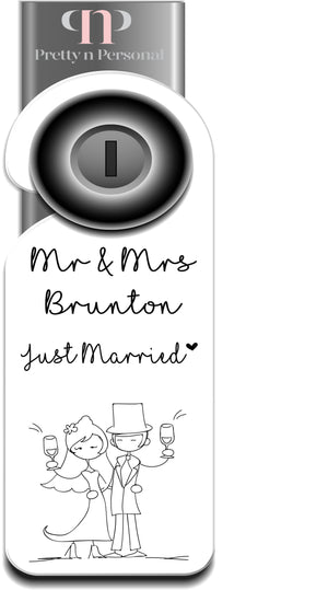 Just Married Door Hanger