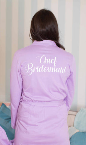 Cotton Lilac Wedding Robe