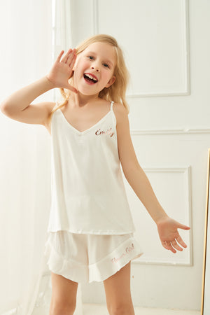 Lux Satin Ruffle Cami Set - Child