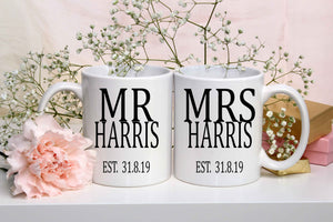 Personalised Couple Mug Set