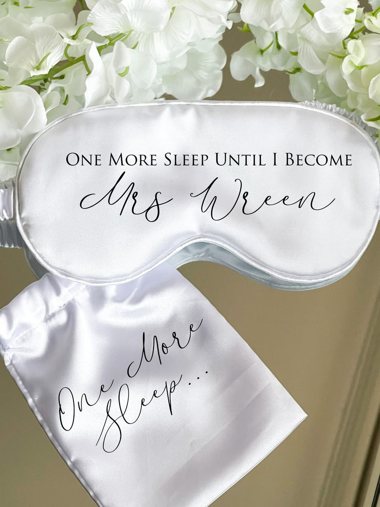 One More Sleep Satin Eye Mask - All Colours