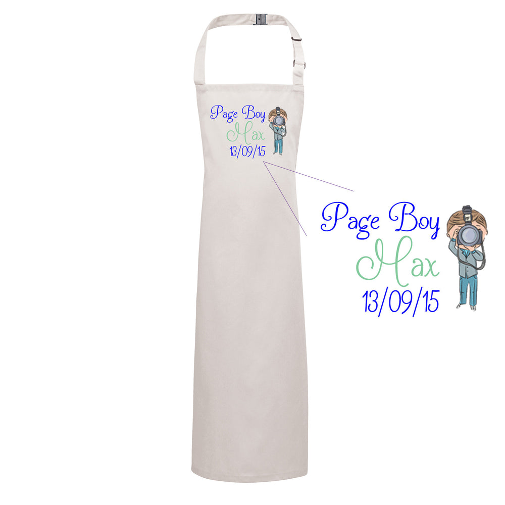 Page Boy Personalised Carton Apron