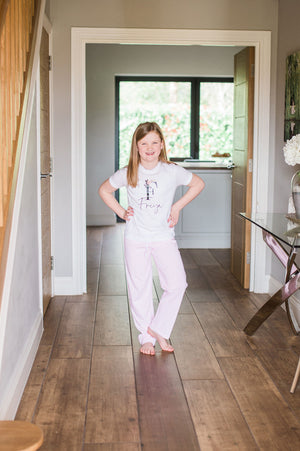 Personalised Candy Stripe Initial Pyjamas
