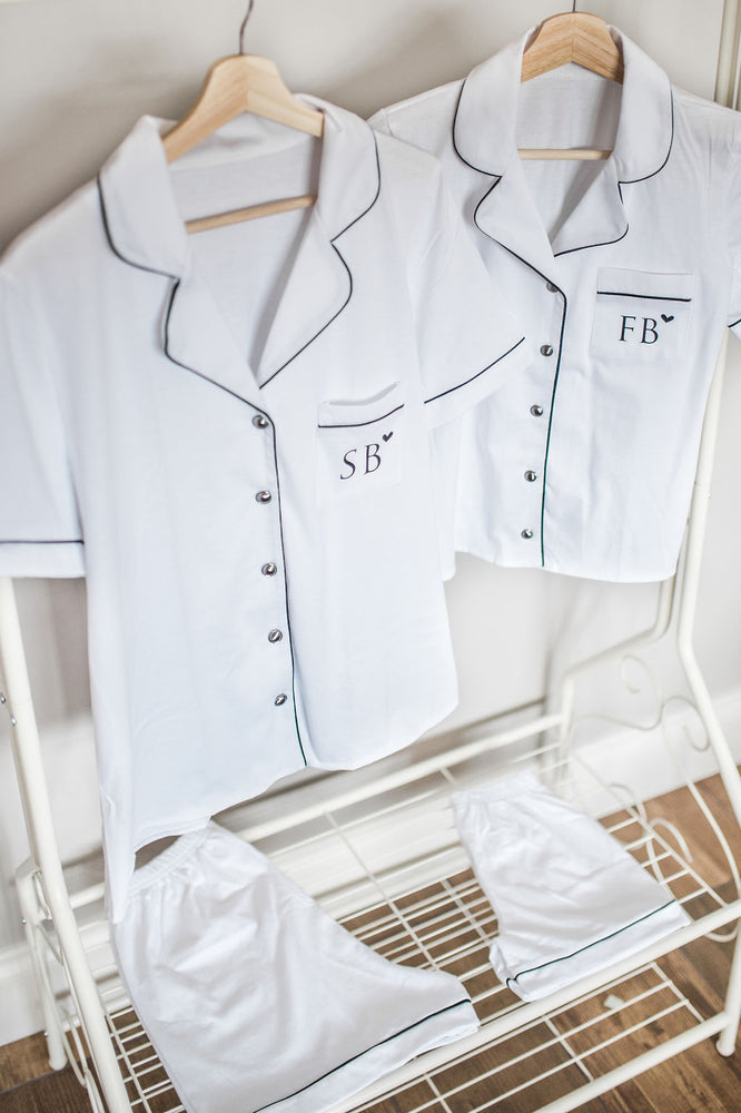Monogrammed Heart Cotton Pyjamas