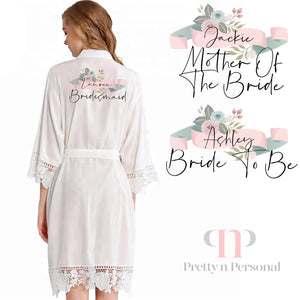Florence Lace Robe