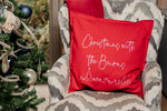 Christmas Outline Personalised Cushion