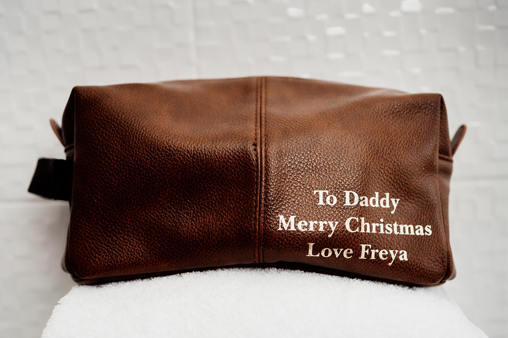 Personalised Message Wash Bag