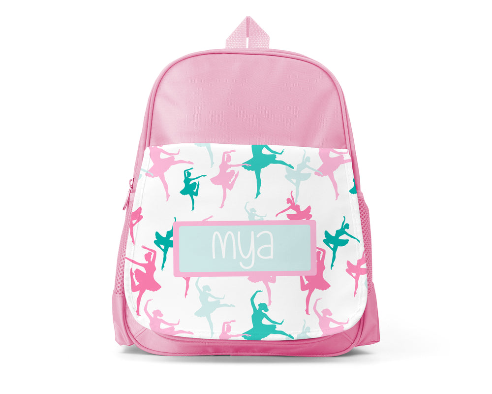 Pink Personalised Back Pack - Ballet