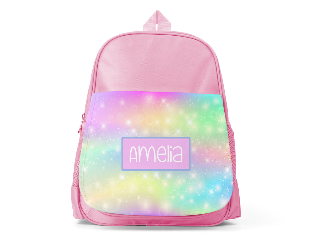 Pink Personalised Back Pack - Sparkle