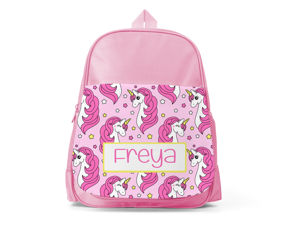 Pink Personalised Back Pack - Unicorn