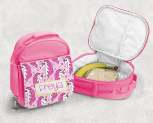 Pink Personalised Lunch Bag - Unicorn
