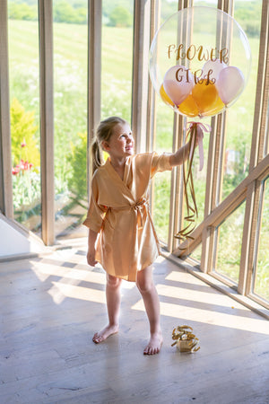 Childrens Silky Wedding Robe - Gold