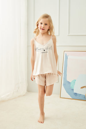 Sophia Satin Ruffle Cami Set - Child