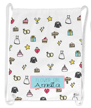 Girl's Personalised Icon String Bag