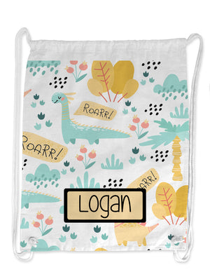 Personalised String Bag - Roar