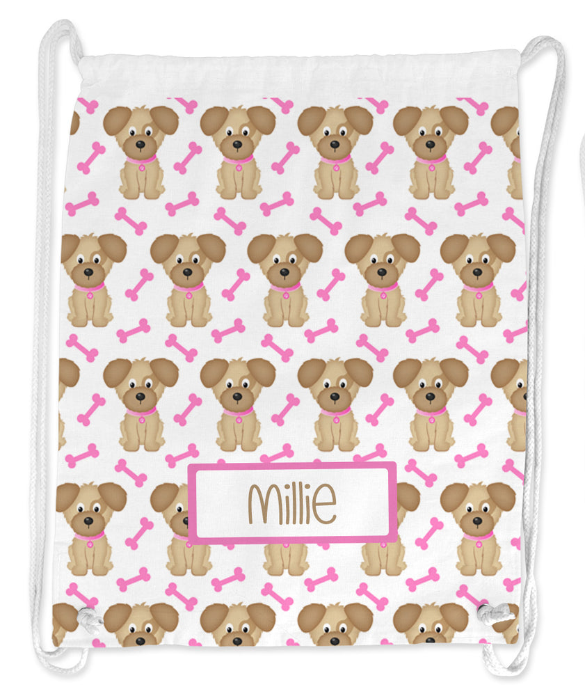 Personalised String Bag - Puppy