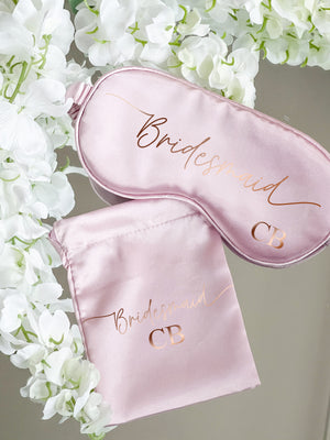 Swish Monogrammed Satin Eye Mask - All Colours