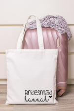 Bridal Party Personalised Tote Bag
