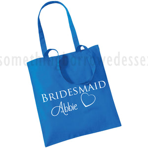 Tote Bag - Bridesmaid, Bride, Flower Girl