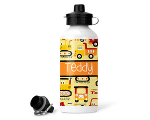 Personalised Water Bottle - Digger