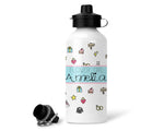 Girl's Personalised Icon Water Bottle