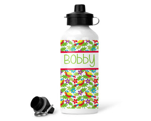 Personalised Water Bottle - Parrot