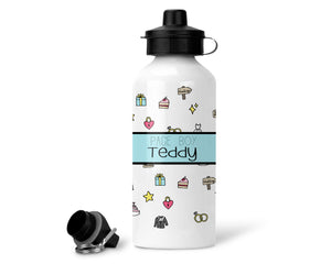 Boy's Personalised Icon Water Bottle