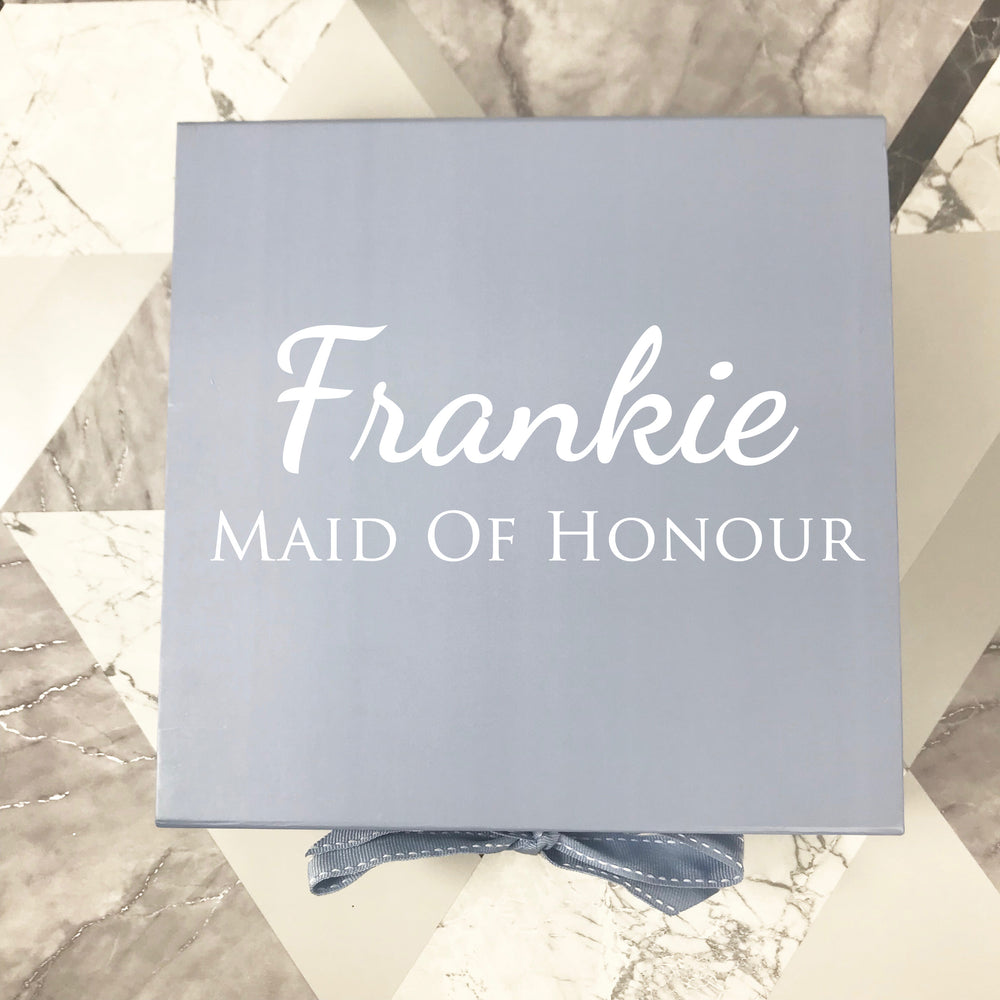 Personalised Blue Gift Box
