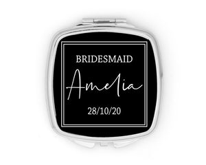Personalised Square Wedding Mirror